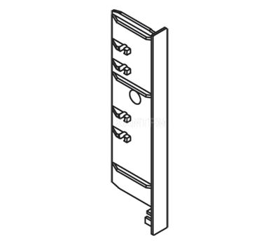 DWD XP Заглушка торцевая фасада F8 внутреннего ящика h=95 мм, серый металлик