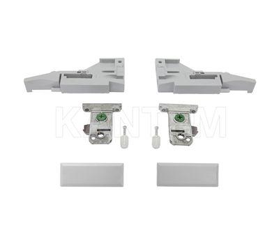 VIONARO Комплект фиксаторов фасада и заглушек внутреннего ящика h=89, серый металлик