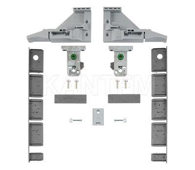 VIONARO Комплект фиксаторов фасада и заглушек внутреннего ящика h=185, серый металлик
