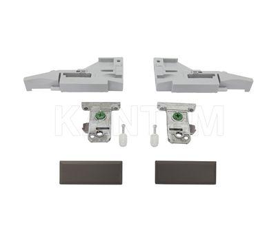 VIONARO Комплект фиксаторов фасада и заглушек внутреннего ящика h=89 мм, коричневый