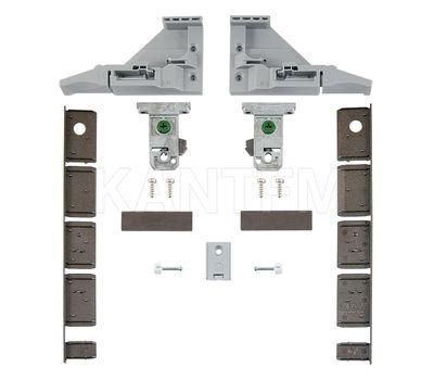 VIONARO Комплект фиксаторов фасада и заглушек внутреннего ящика h=185 мм, коричневый