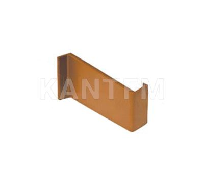 Заглушка для мебельного навеса, пластик, коричневая, левая