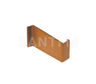 Заглушка для мебельного навеса, пластик, коричневая, правая