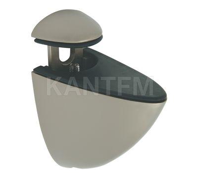 ПЕЛИКАН Менсолодержатель для деревянных и стеклянных полок 4 - 29 мм, никель матовый