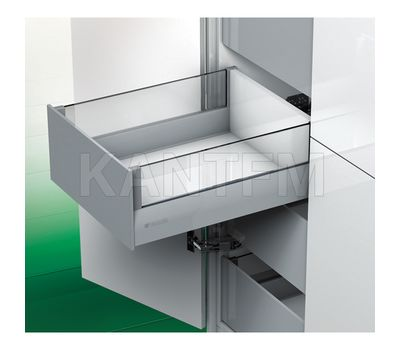 [HSCI] Внутренний ящик с наращиванием стеклом, плавное закрывание, 450 мм (без вставок)