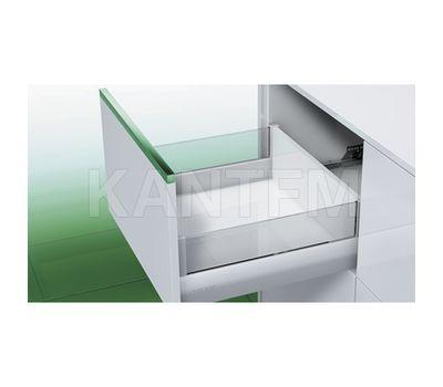 [HSC] Стандартный ящик с наращиванием стеклом, плавное закрывание, 500 мм (без вставок)