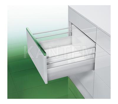 [HSD] Стандартный ящик с двойным наращиванием, плавное закрывание, 500 мм, белый