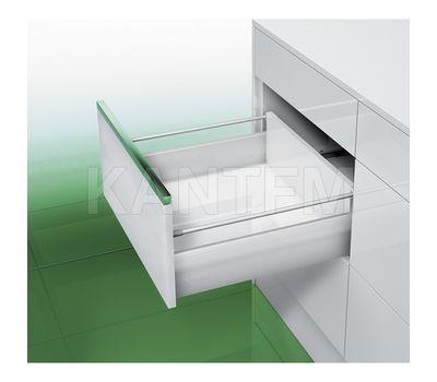 [MS] Стандартный ящик с рейлингом, плавное закрывание, 500 мм, белый