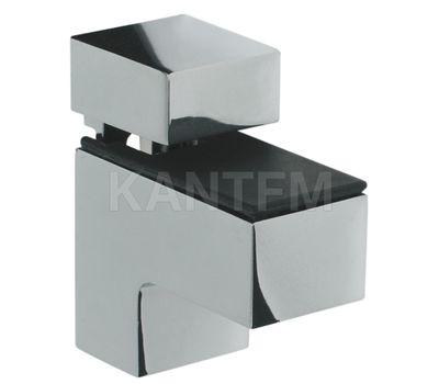 КВАДРО МИНИ Менсолодержатель 24х51 мм для деревянных и стеклянных полок 4 - 20 мм, хром