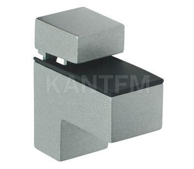 КВАДРО МИНИ Менсолодержатель 24х51 мм для деревянных и стеклянных полок 4 - 20 мм, хром матовый