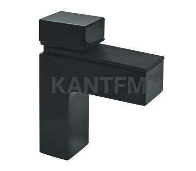 КВАДРО Менсолодержатель 24х66 мм для деревянных и стеклянных полок 4 - 40 мм, антрацит