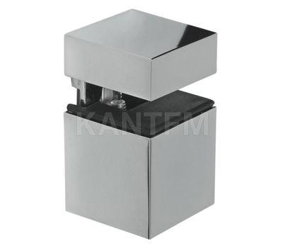 КВАДРО Менсолодержатель 30х30 мм для деревянных и стеклянных полок 4 - 16 мм, хром