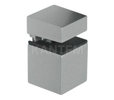 КВАДРО Менсолодержатель 30х30 мм для деревянных и стеклянных полок 4 - 16 мм, хром матовый