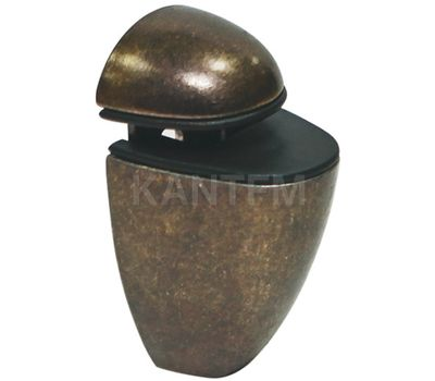 ПЕЛИКАН Менсолодержатель для деревянных и стеклянных полок 4 - 20 мм, бронза патинированная