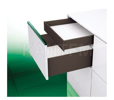 [SI] Внутренний стандартный ящик H=89 мм, плавное закрывание, коричневый, 500 мм