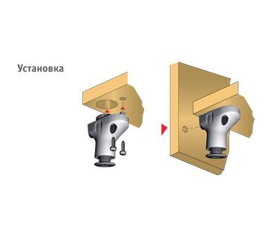 ATACAMA Опора регулируемая с поддержкой дна и боковины, регулировка 25 мм, винт нейлон