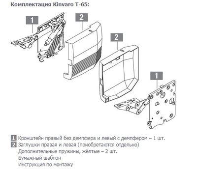 Kinvaro T-65 Поворотный подъемный механизм без заглушек