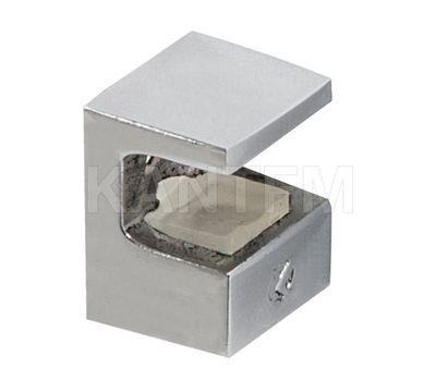 KRISTAL Полкодержатель для стеклянных полок толщиной 8 мм, под саморез, никель