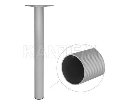 Опора для стола круглая, D60, H710+15 мм, серебро, 4шт.