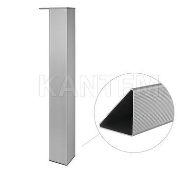 Опора для стола треугольная, H710+15 мм, серебро, 4шт.