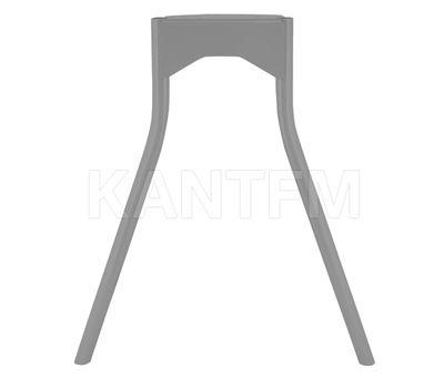 Опора для стола П-образная, D32, H695+10мм, хром матовый, 1шт.