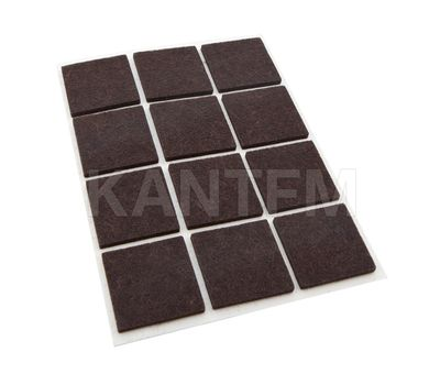 Подпятник самоклеящийся квадратный 40X40мм, коричневый, 12 шт.