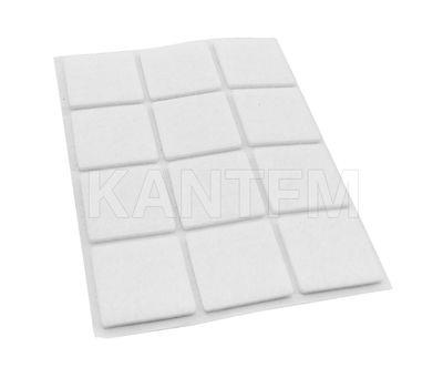 Подпятник самоклеящийся квадратный 40X40мм, белый, 12 шт.