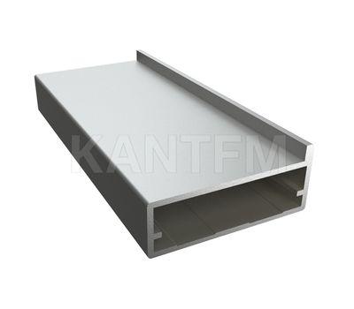 INTEGRO Профиль рамочный широкий, под наклейку, 45х19х1, серебро, L-6000