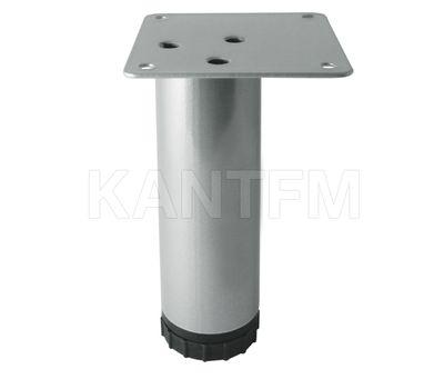 Опора декоративная D51мм, Н150+33мм алюминий глянец