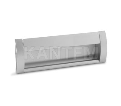 Ручка-раковина 160мм крепление саморезами алюминий