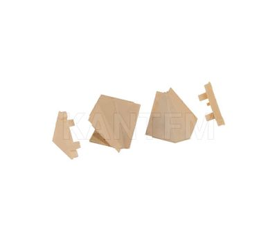 Аксессуары для треугольного плинтуса 34.01R, бежевый