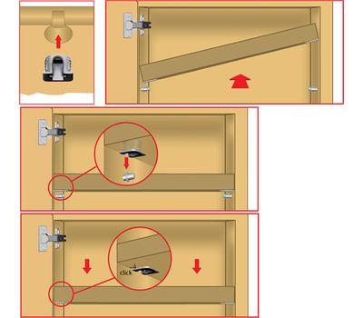 FLIPPER Полкодержатель для деревянных полок с фиксацией, прозрачный