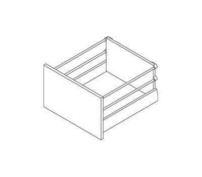 [HSD] Стандартный ящик с двойным наращиванием, tipmatic plus, 500 мм, белый