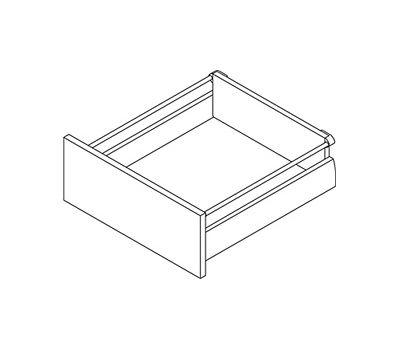 [MS] Стандартный ящик с рейлингом, tipmatic plus, 500 мм