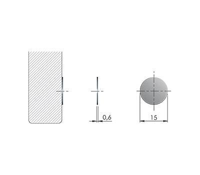 K-PUSH TECH ответная планка металлическая D15