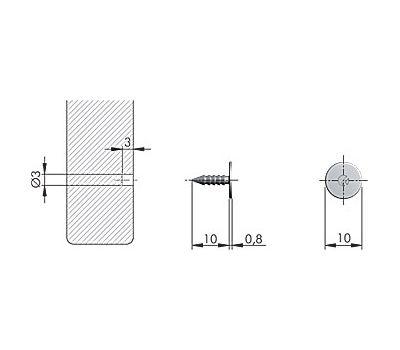 K-PUSH TECH ответная планка металлическая D10 с шипом