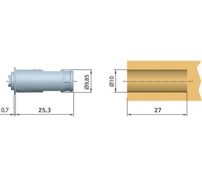 K-LOCK Магнит врезной D10, серый