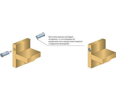 K-LOCK Магнит врезной D10, антрацит