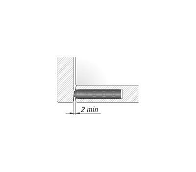 K-PUSH TECH 20 мм врезной с магнитом, антрацит