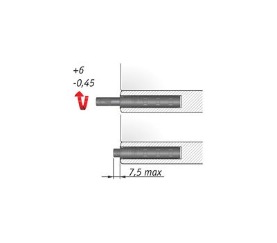 K-PUSH TECH 37 мм врезной с рез. демпфером, антрацит