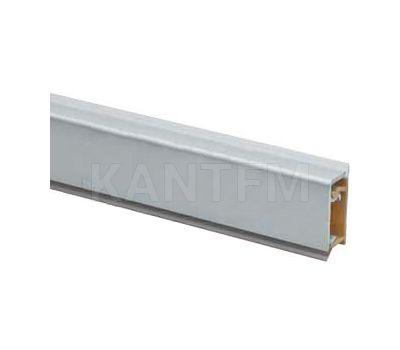 Плинтус алюминиевый прямоугольный горизонтальный L=3м, матовый