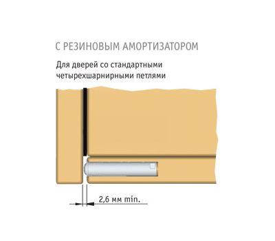 K-PUSH 13 мм врезной с рез. демпфером, черный