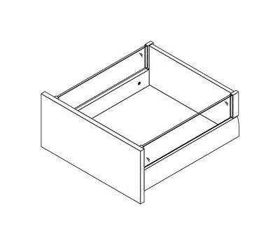 [HSC] Стандартный ящик с наращиванием стеклом, плавное закрывание, 500 мм (матовое стекло)