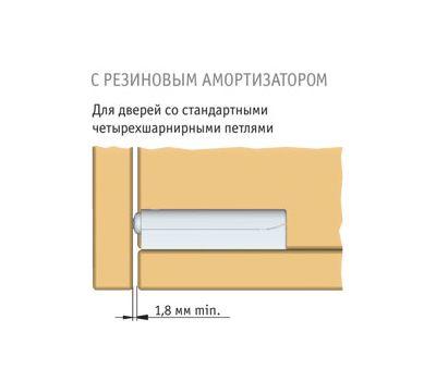 K-PUSH 13 мм накладной с рез. демпфером, черный