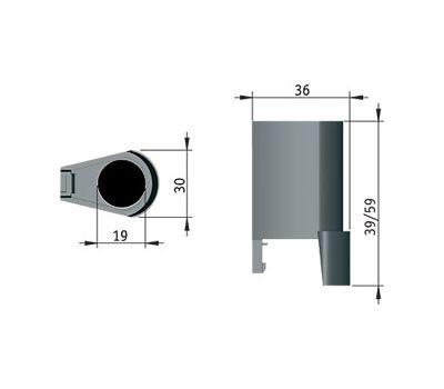 INTEGRATO Корпус для опоры, В=40 мм
