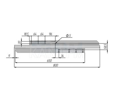 Механизм бесцарг. 800/1580 мм с заглушками, несинхрон.