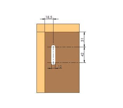LIBRA CC2 Заглушка для навесов D12, пластик, белая