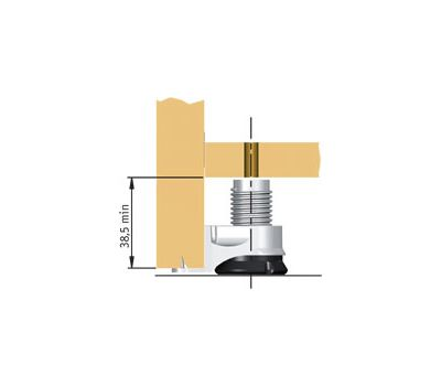 INTEGRATO Опора регулируемая с шипами, регулировка 25 мм, винт нейлон