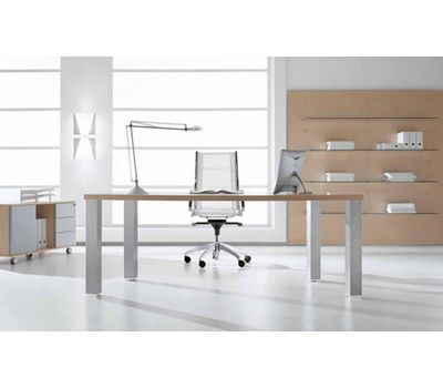 Опора для стола квадратная, 60х60 мм, H710+15 мм, серебро, 4шт.