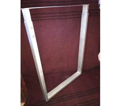 Опора для стола П-образная, 60х30, H820-870(+5мм), серебро, 1 шт.